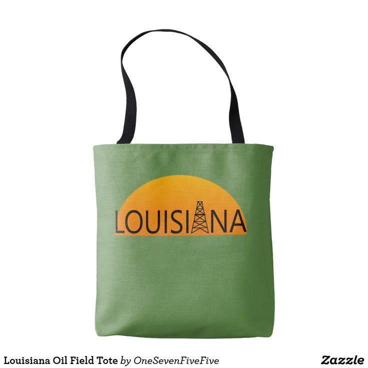 Louisiana Oil Field Tote The oil field is an important part of Louisiana's economy. Support the oil field workers among your friends and family with this Louisiana oil tote. Louisiana tote is an easy way to show support for the welders, roughnecks, drillers, derrickhands, engineers, pipeliners, landmen, and many others in Louisiana that depend on Louisiana's oil industry for their livelihood. Mug is available in a variety of styles and sizes and can easily be customized in background color.
