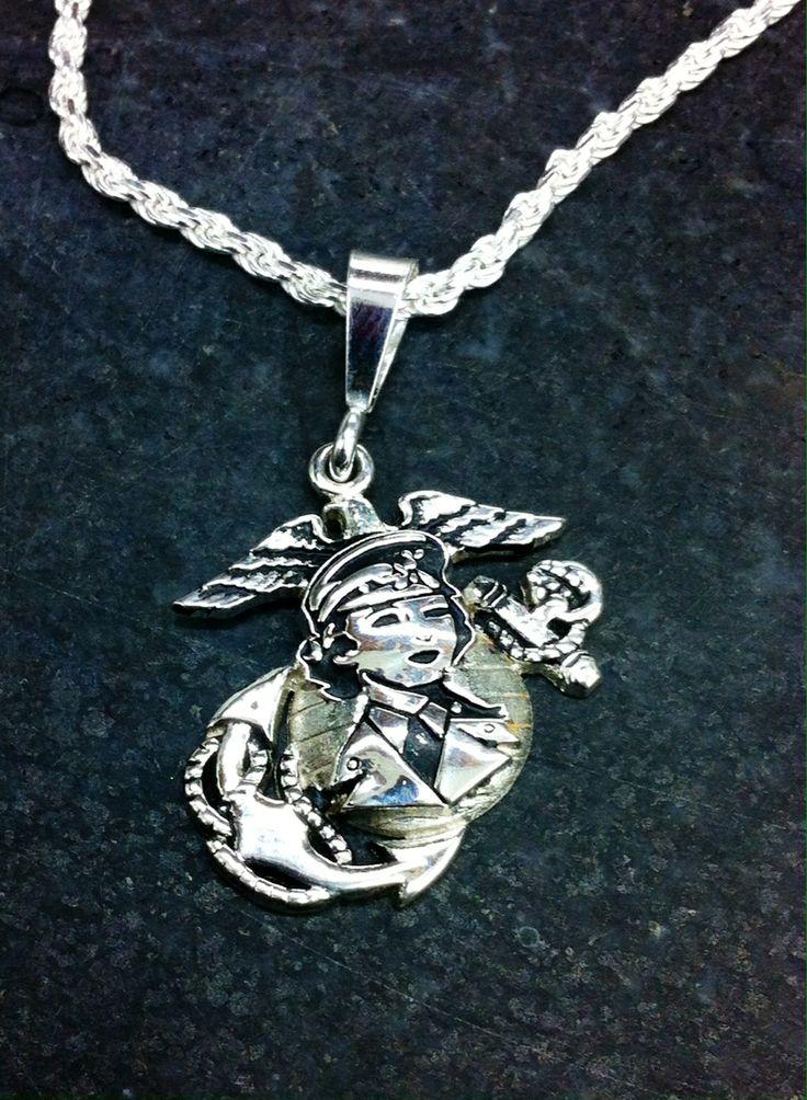 women marine sterling silver pendant marine corps rings. Black Bedroom Furniture Sets. Home Design Ideas
