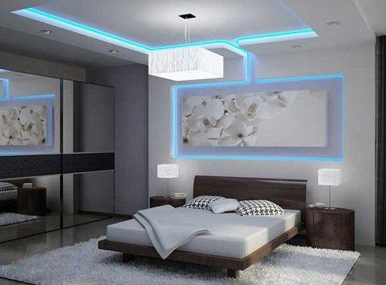 Creative Bedroom Led Lights Ideas Decoration Faux Plafond
