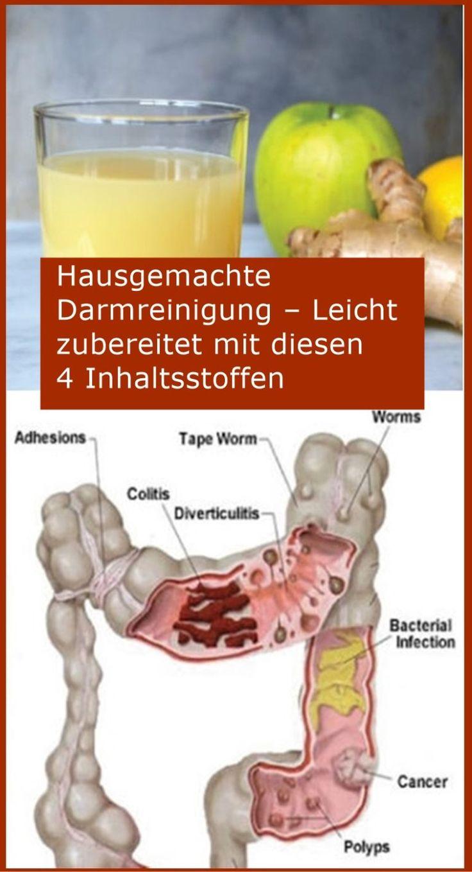 Hausgemachte Darmreinigung – Leicht zubereitet mit diesen 4 Inhaltsstoffen | n…