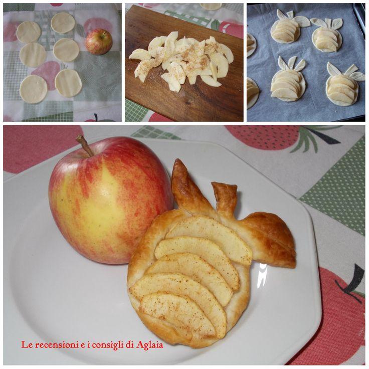 Le sfogliatine alla mela sono le mie preferite… soddisfano la mia voglia di dolce e sono velocissime da fare. Mescolate le fettine di mela con lo zucchero e la cannella prima di adagiarle sulla sfoglia!  In forno per 20 minuti a 170 gradi e sono pronte da gustare.  http://aglaiarecensioni.blogspot.it/