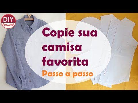 Como tirar o molde de camisa pronta - copiando sua peça favorita #1 (DIY tutorial) - YouTube