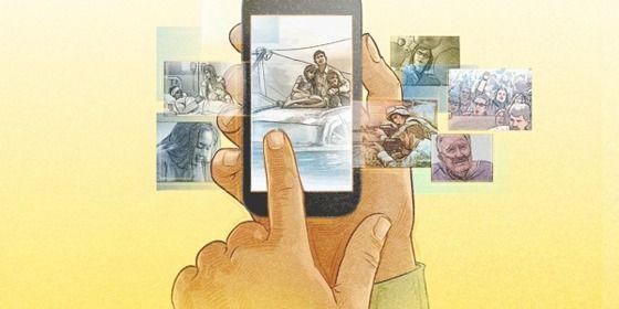 Uma pessoa usando um dispositivo móvel para ler respostas no jw.org