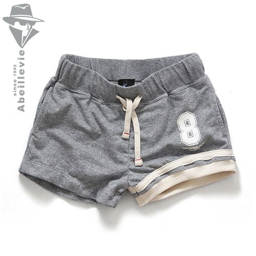 Abeillevie Fashion New Cotton Sexy Casual Men's Shorts with inside Pocket Summer French Terry Jogger Fitness Workout Shorts XB21