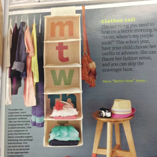 Awesome weekly clothes organizer for kids!