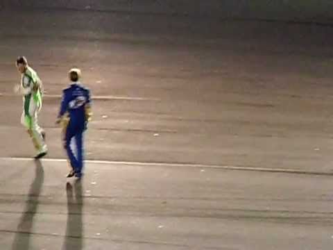 One of the FUNNIER moments during the NASCAR Daytona 500 :) During a red flag, a foot race between Dale Jr & Brad Keselowski... http://www.youtube.com/watch?feature=player_embedded&v=eg4HQmtmTEc