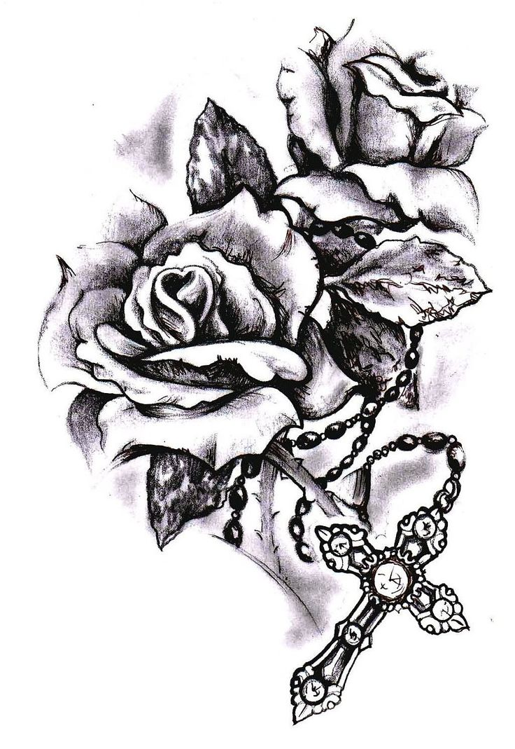 #Tattoos #Tattoo #SpiritualTattooIdeas Image result for rose and rosary tattoo ,…