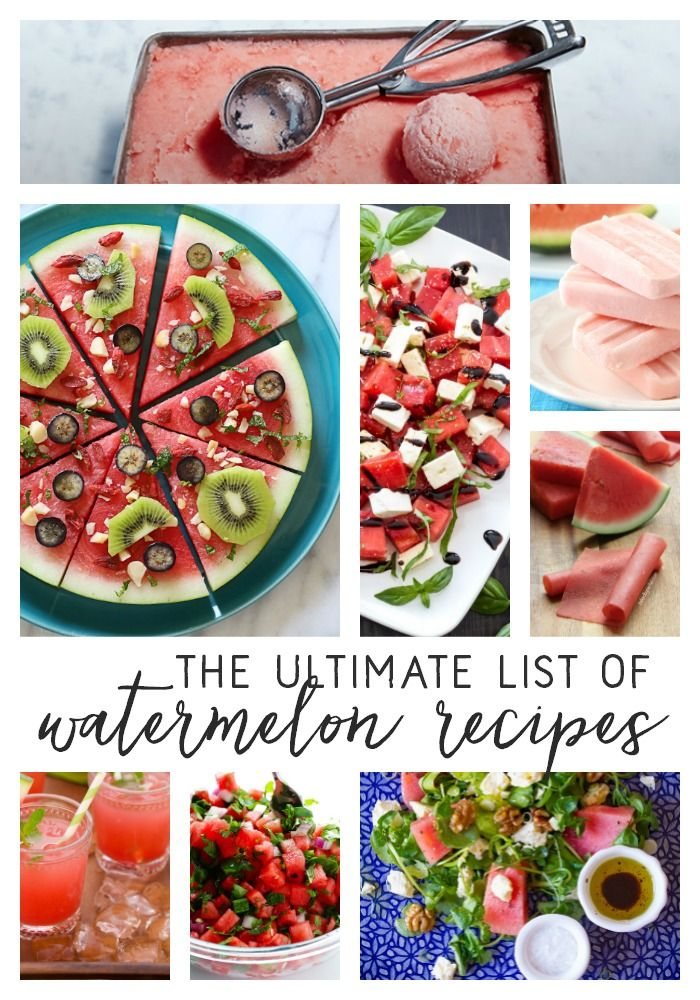 It's almost summertime! Here is the ultimate list of watermelon recipes.