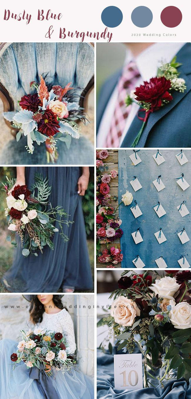 Top 7 Dusty Blue Wedding Color Palette Ideas For 2020 Big Day Elegantweddinginvites Com Blog In 2020 Wedding Color Schemes Winter Fall Wedding Color Schemes Wedding Color Schemes Blue