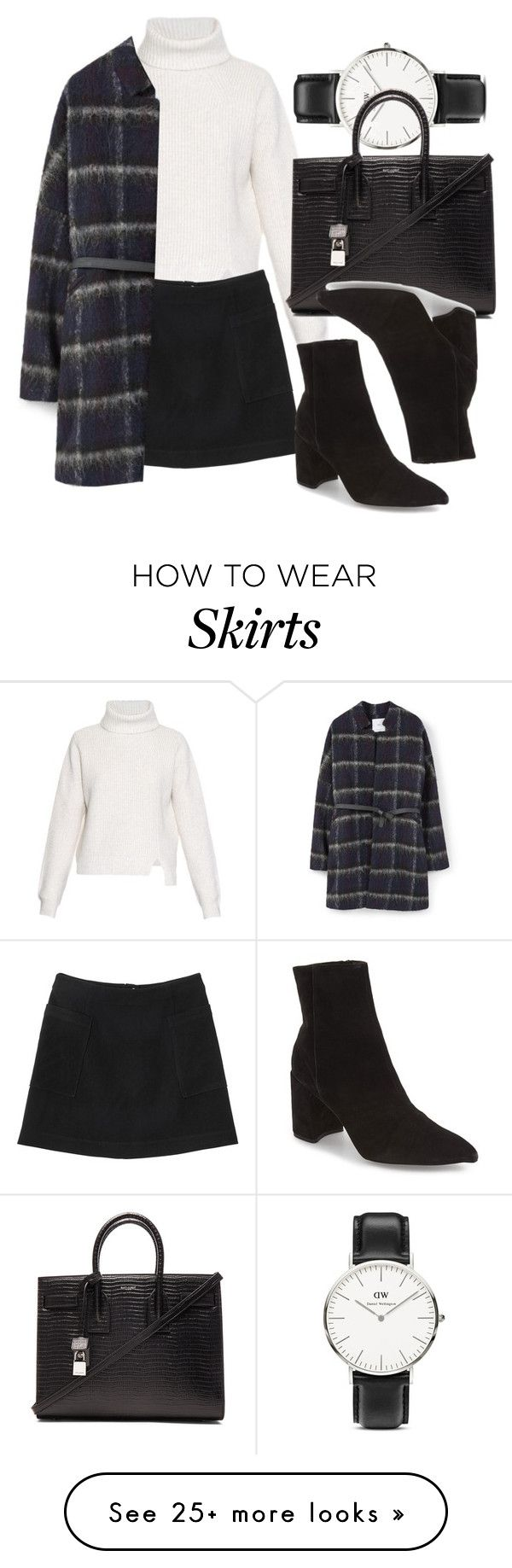"""Untitled #6149"" by laurenmboot on Polyvore featuring Proenza Schouler, Daniel Wellington, Monki, Yves Saint Laurent, MANGO and Topshop"