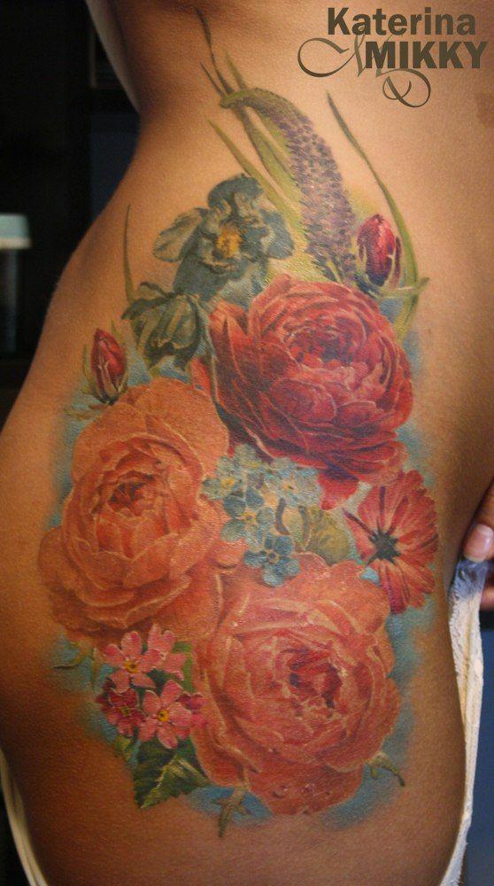 Татуировка пион - значение, эскизы тату и фото