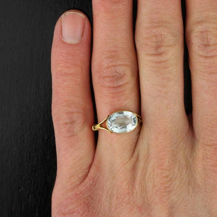 East West Sapphire Ring