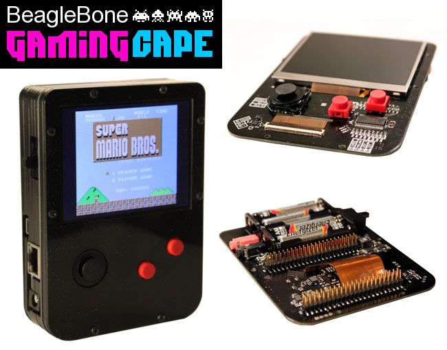 BeagleBone GamingCape Transforms BeagleBone Black Into GameBoy Emulator - Max Thrun has developed the BeagleBone GamingCape, which transforms the small BeagleBone Black developer board that is available to purchase for around $45 into a awesome GameBoy emulator. | Geeky Gadgets