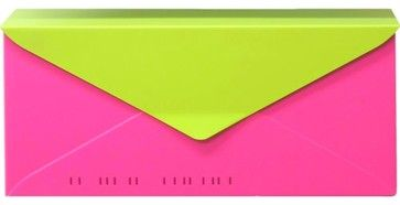 HouseArt No. 10 Letterbox Wall-Mount Mailbox, Bougainvillea Pink/Key Lime - eclectic - mailboxes - other metro - houseArt