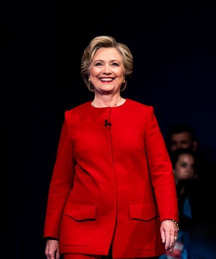 Hillary Clinton's Red Pantsuit Was A Great Metaphor For Last Night's Debate+#refinery29
