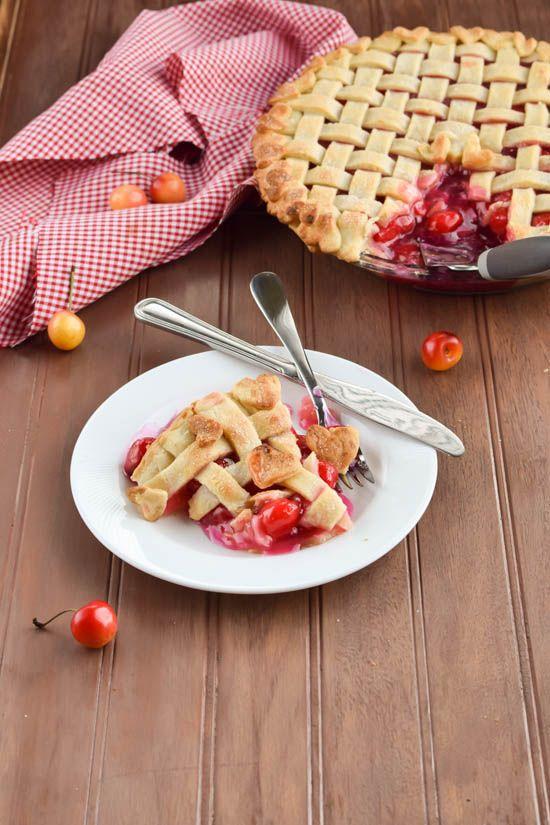 Sweet Rainier Cherry Pie