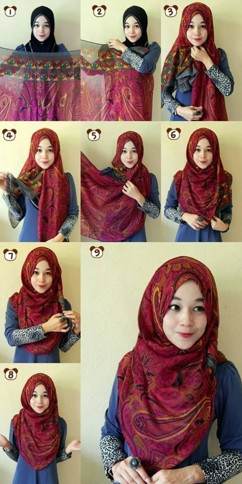 15 Easy and Simple Hijab Tutorials for Beautiful Look