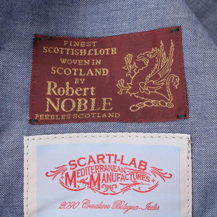 Scartilab Herringbone 408 waistcoat brown