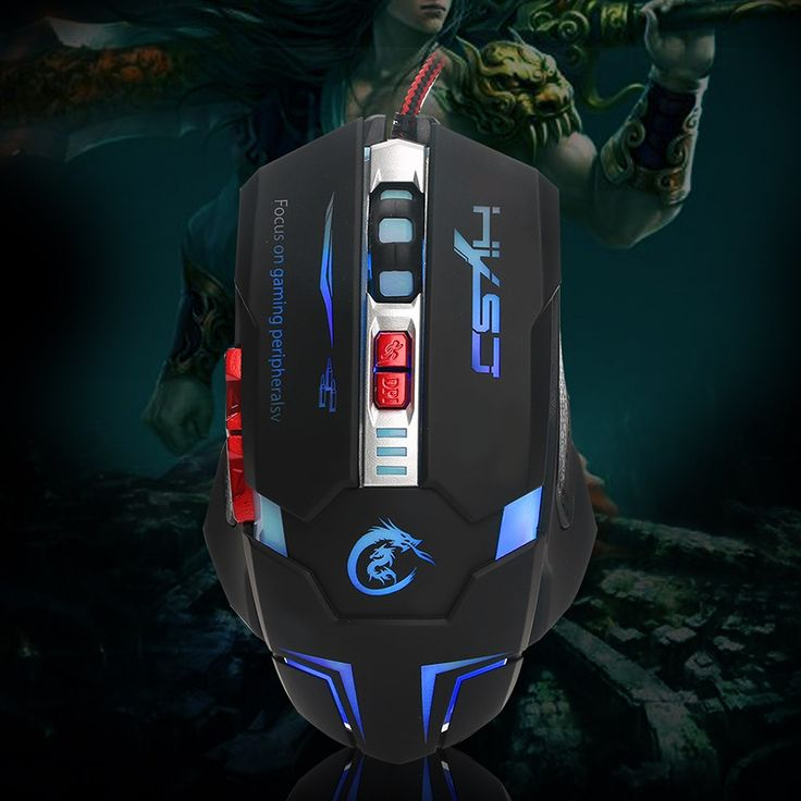 Only US$8.99, HXSJ H600 Ergonomic Gaming Mouse Macro Definition Programming - Tomtop.com