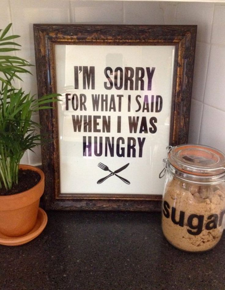 Witty kitchen art