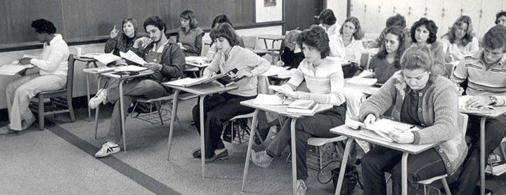 1970s High School Classroom America In The 1970s