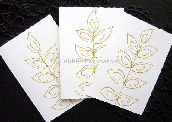 Handmade original cards ink drawing Blank Note Cards