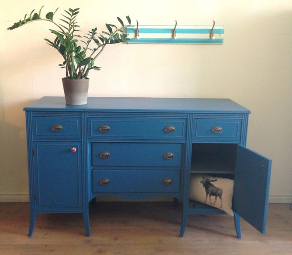 Navy blue sideboard/buffet | A Painted Buffet | Pinterest | Sideboard buffet,  Buffet and Paint furniture - Navy Blue Sideboard/buffet A Painted Buffet Pinterest