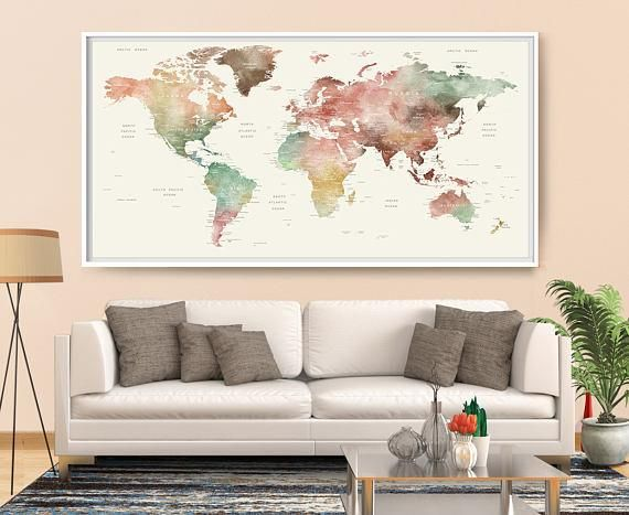 66 best large world map art images on pinterest extra large wall extra large wall art push pin world map art print large wall decor abstract painting world map poster extra large art world map if you need extra gumiabroncs Image collections