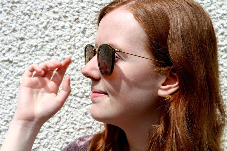 Ray-Ban Sunglasses Review on a redhead fashion blogger