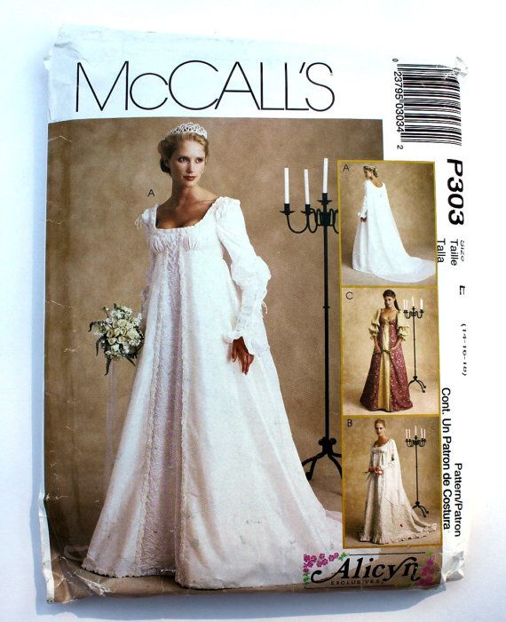 Renaissance Wedding Dress Costume History Mccall S By Heychica: 1000 Best Images About Bridal Patterns Through The Years