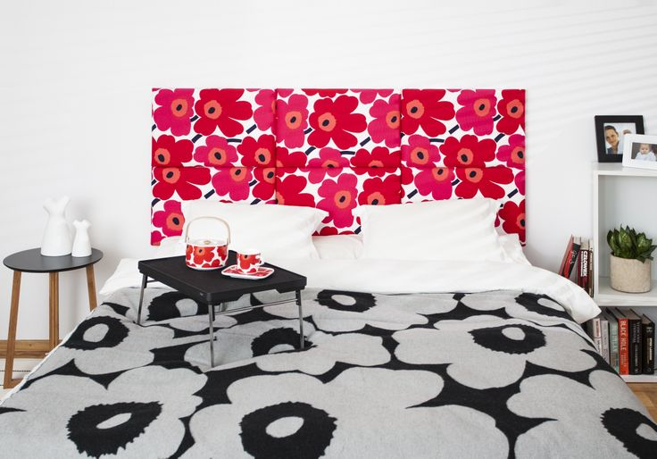 madeforbed.com, modular headboard, beautiful bedroom, marimekko headboard, design