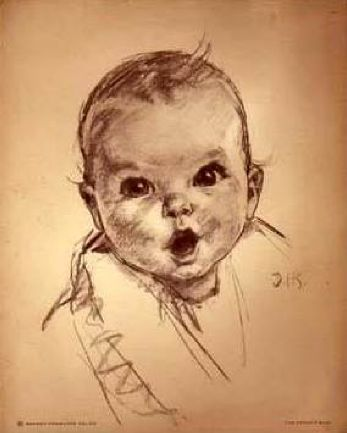 Gerber Baby...icon. Would you believe that this is actually Humphrey Bogart as a baby? True Story