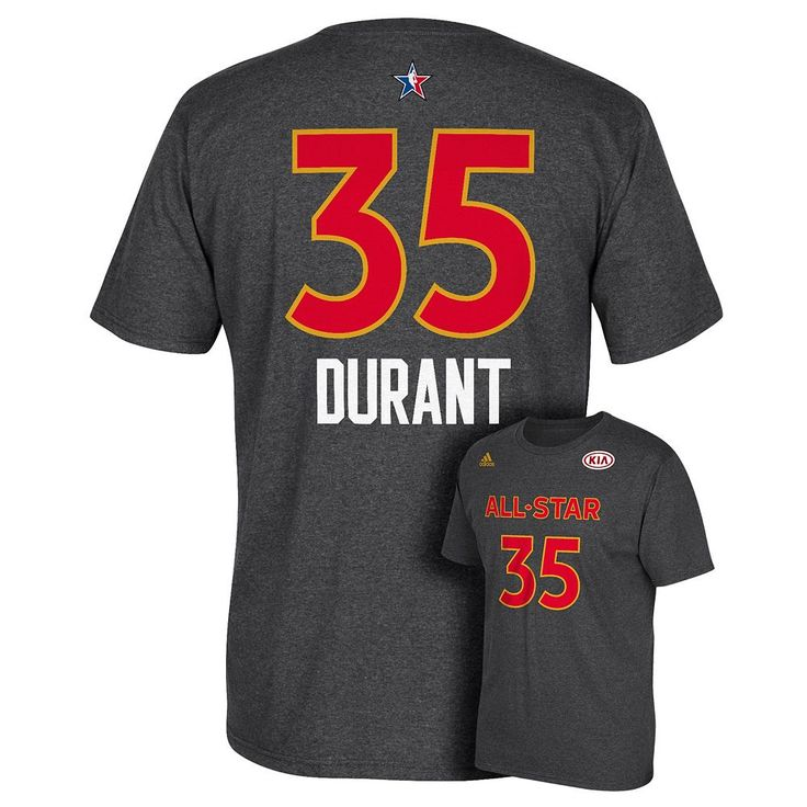 Men's Adidas Golden State Warriors Kevin Durant All-Star Name & Number Tee, Size: Medium, Blue