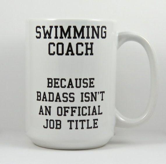 swimming coach mug large ceramic mug for swim by QuipsAndGrins