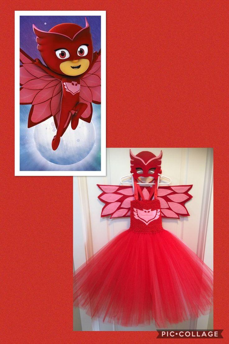Owlette tutu dress, mask & wings #pjmasks