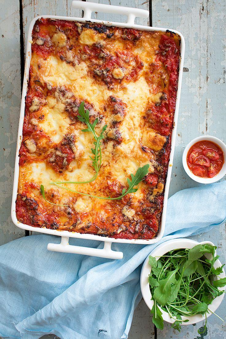 lasagna bolognesa sin bechamel