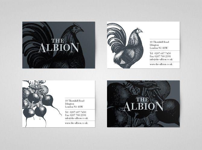 The Albion restaurant branding