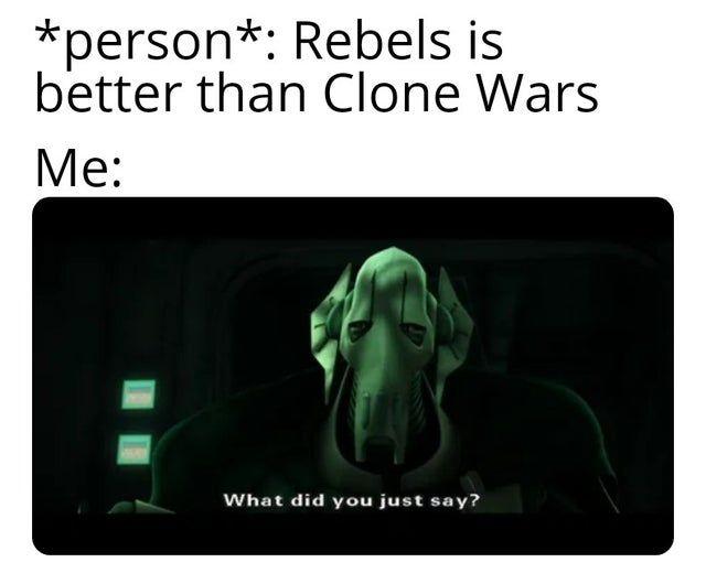 Https Www Reddit Com R Clonewarsmemes Funny Star Wars Memes Star Wars Quotes Ultimate Star Wars