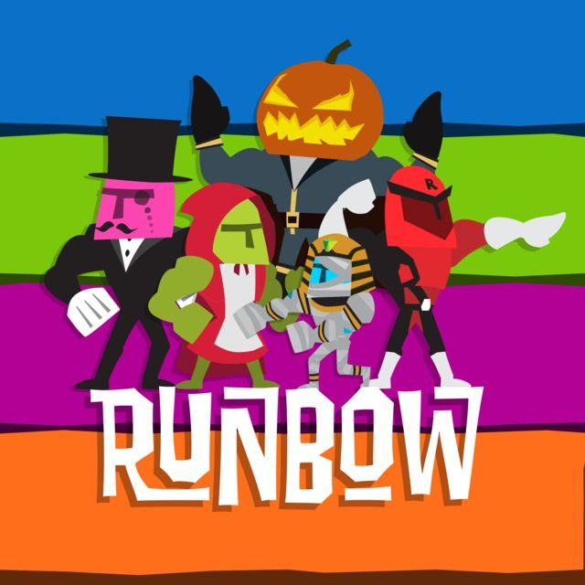 A crazy 9-player simultaneous multiplayer platformer game about running through color-changing levels creating/removing platforms and a level editor. If the level background changes, platforms in that same color disappear.