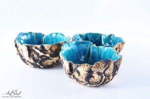 Kolorowe miseczki - turkusowa ------  Colorful bowl - turquoise