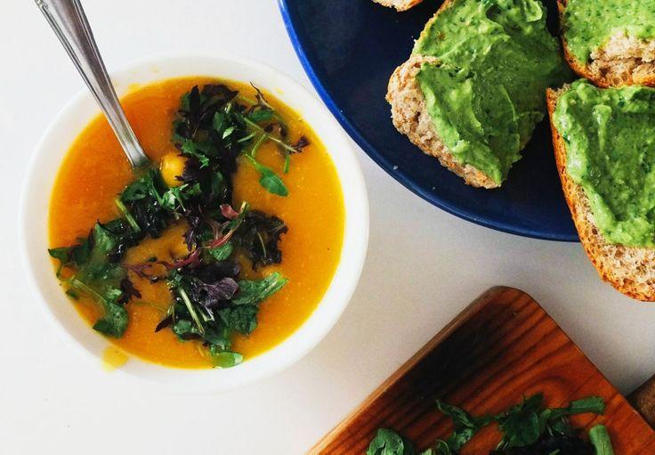 Тыквенный супчик. Моя кулинарная страничка в инстаграмме @kindcook.   #food #foodporn #еда #yummy #soup #суп #vscostyle