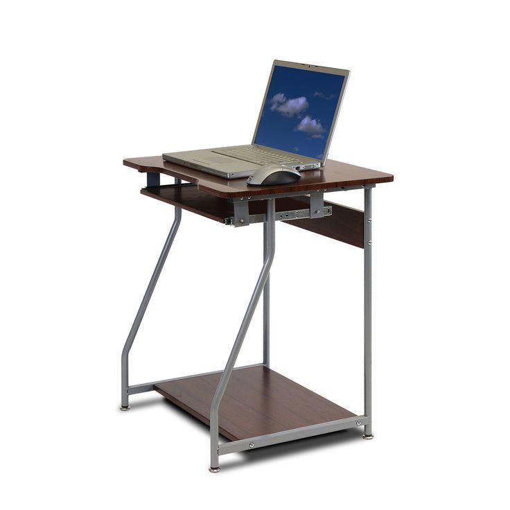 furinno besi office computer desk dark wood grain fnbl 22001 besi office computer desk