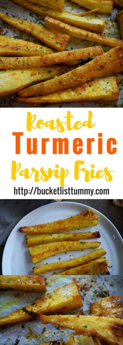 Roasted Turmeric Parsnip Fries....so good...used coconut oil
