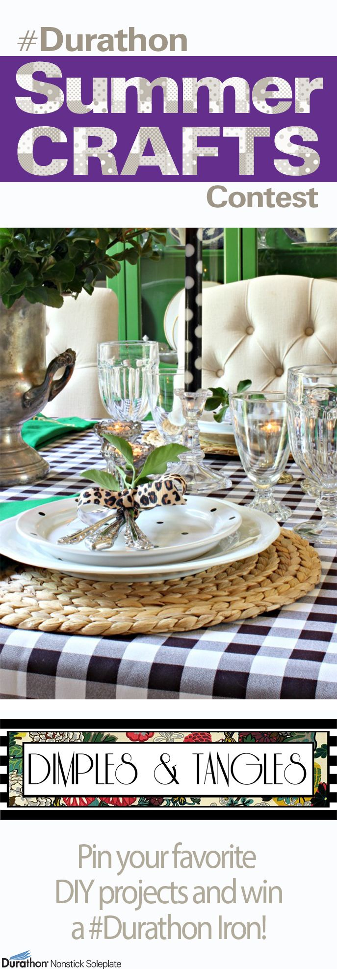 Center Stage: How to Make a Custom Tablecloth (Regular or No-Sew) with Dimples and Tangles | #Durathon