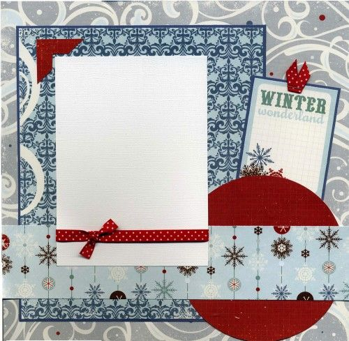 Great for displaying that special winter photo! Frame and hang on the wall as unique art or use this 12x12 page in your scrapbook!