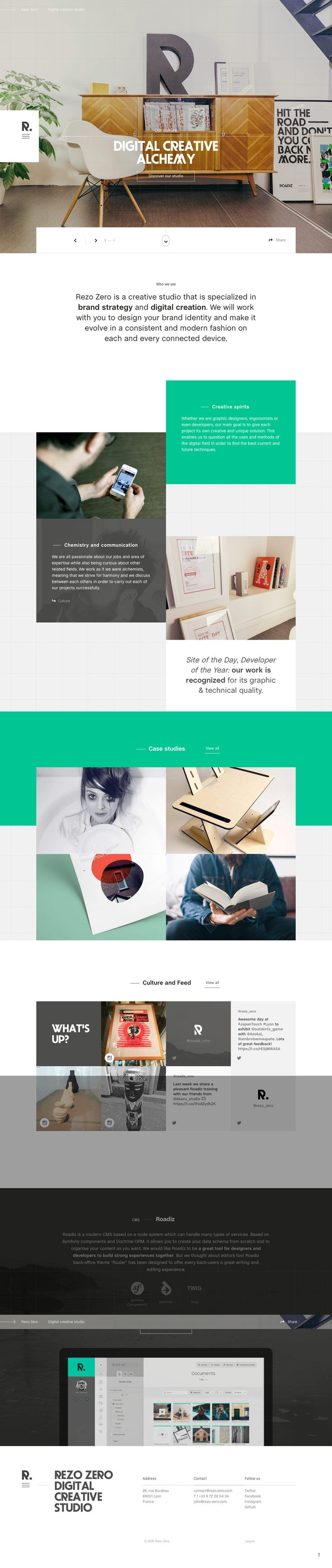 Rezo Zero (More web design inspiration at topdesigninspiration.com) #design #web #webdesign #inspiration #sitedesign #responsive