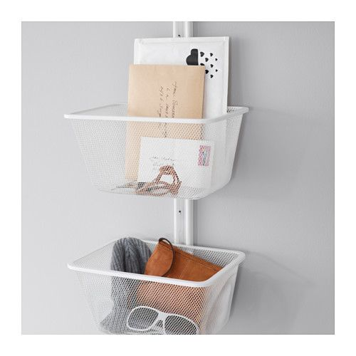 ALGOT Wall upright and basket, white. Additional storage in pantry.  $25
