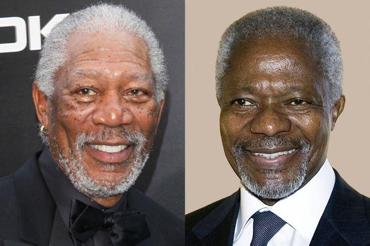 Kofi Annan and Morgan ...