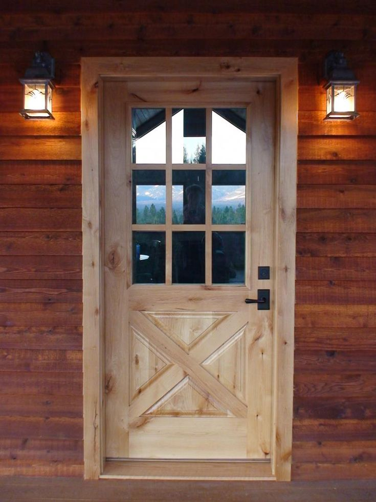 17 best images about dream log cabin on pinterest the for Wooden exterior back doors