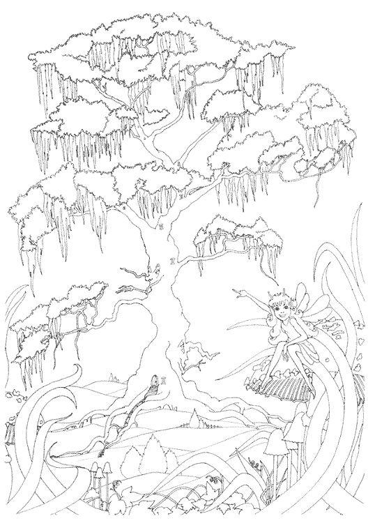 coloriage arbre des fees